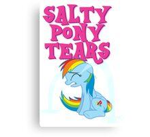 Salty Pony Tears Canvas Print