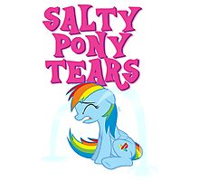 Salty Pony Tears Photographic Print