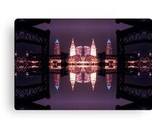 Lights, Buildings and Bridges Canvas Print