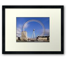 London Eye Timelapse Framed Print