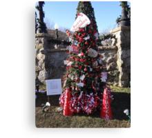 Go Chucks Christmas Tree Canvas Print