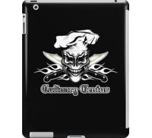 Chef Skull 1: Culinary Genius 3 White Flames iPad Case/Skin