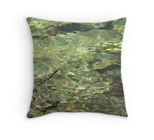 ripples of sunlight Throw Pillow