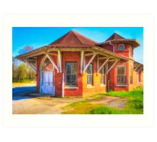 Marshallville, Georgia Train Depot Art Print