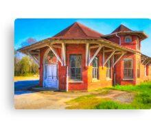 Marshallville, Georgia Train Depot Canvas Print