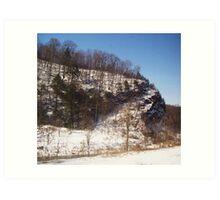 Snowy Cliffside Art Print