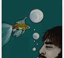 swimming with the goldfishes by catfishgirl