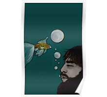 swimming with the goldfishes Poster