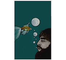 swimming with the goldfishes Photographic Print