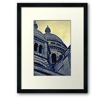 Sacre Coeur IV gradient map Framed Print