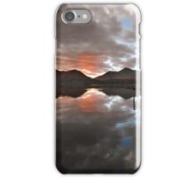 Sunset behind Catbells and Maiden Moor, Derwentwater English Lake District iPhone Case/Skin