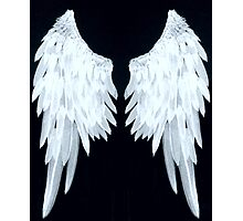 Angel wings ice blue Photographic Print