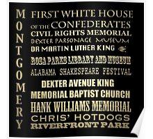 Montgomery Alabama Famous Landmarks Poster