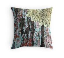 Wood and Moss Texture Throw Pillow