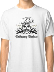 Chef Skull 2: Culinary Genius 3 black flame Classic T-Shirt