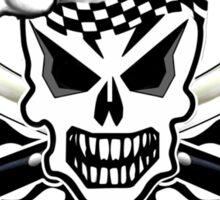 Chef Skull 2: Culinary Genius 3 black flame Sticker