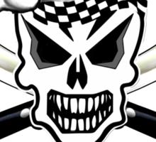 Chef Skull 2: Culinary Genius 3 white flames Sticker