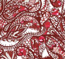 Red Swirls Design Sticker