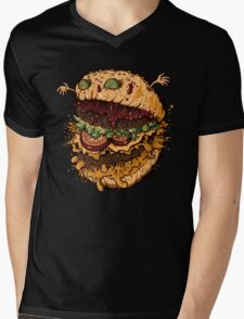 Monster Burger Mens V-Neck T-Shirt