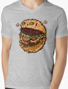 Monster Burger Mens V-Neck T-Shirt