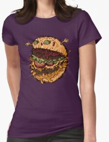 Monster Burger Womens Fitted T-Shirt