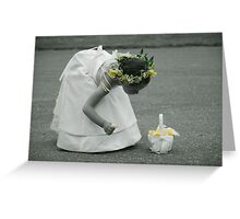 My Flower Girl Greeting Card