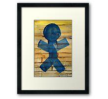 Stick Figure Sun Catcher Framed Print