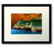 Rosh HaNikra Grottoes, Israel Framed Print