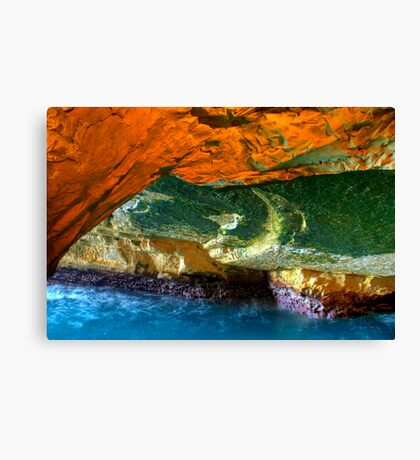 Rosh HaNikra Grottoes, Israel Canvas Print