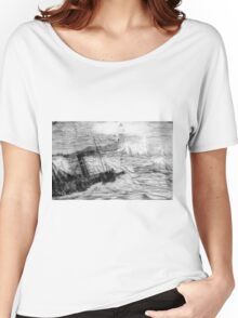 My pencil drawing of Distress at Corbiere Light, Channel Islands Women's Relaxed Fit T-Shirt