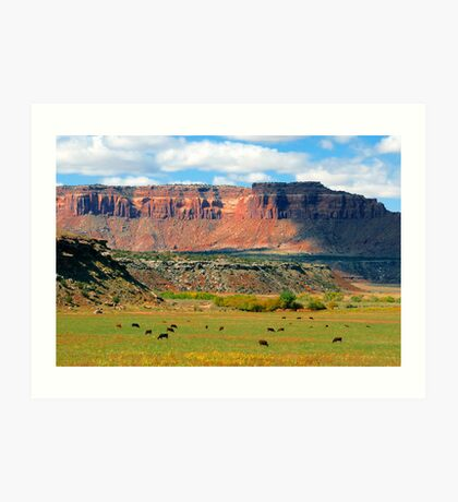 """Indiana Creek Ranch"" Art Print"