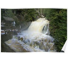 Misty spring falls, Victoria Park, Truro, NS Poster