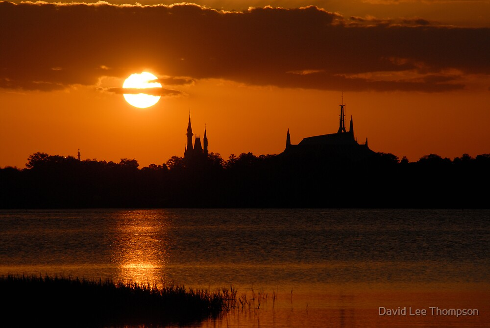 """Majic Kingdom Sunset"" by David Lee Thompson"