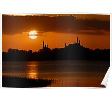 """Majic Kingdom Sunset"" Poster"