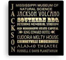 Jackson Mississippi Famous Landmarks Canvas Print