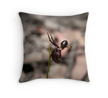 Flying duck orchid Throw Pillow