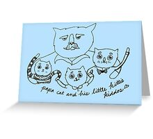 Papa Cat Greeting Card