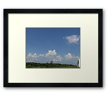 HDR Composite - Working Farm Landscape and Sky Framed Print