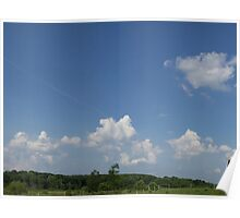 HDR Composite - Working Farm Landscape and Sky Poster