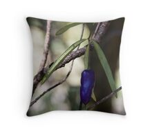 A purple berry thingy Throw Pillow