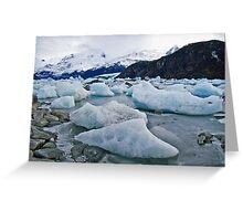 Glacier's end Greeting Card