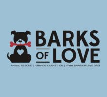 Clothing - Barks of Love - Main Logo #1 (Light) by Barks of Love Animal Rescue