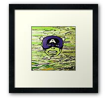 The Incredible Captain America Framed Print