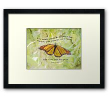 the world would be happier... Framed Print