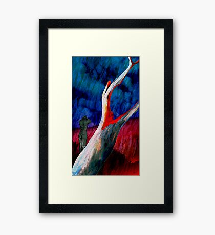 Death in the Landscape Framed Print