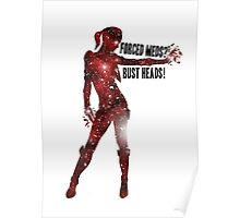 Mass Effect Silhouettes, Jack - Forced Meds? Bust Heads! Poster