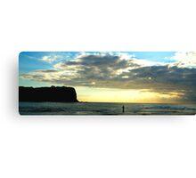 Lonely- Mona vale Beach, Sydney Australia Canvas Print