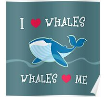 love whales Poster