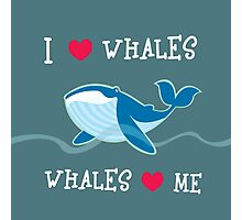 love whales Photographic Print