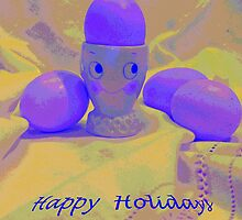 Happy Holidays Card  by Virginia McGowan